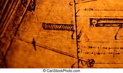 Old Engineering drawing - 14th Century Leonardo da Vinci...