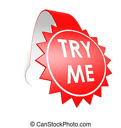 Try me star label image with hi-res rendered artwork that...
