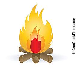 campfire - campfire illustration
