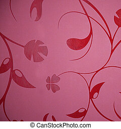 floral wallpaper design in a self patterned burgundy or...