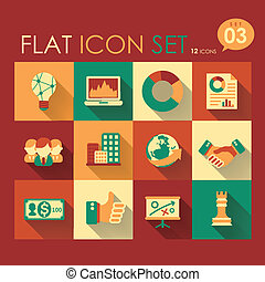 business strategy icon set - vector business strategy icon...