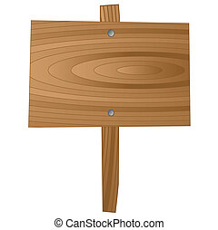 wooden sign board illustration