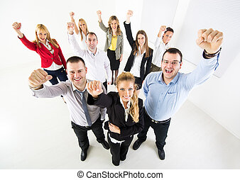 Successful Business team - Group of a happy Business People...