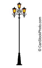 cute lampposts illustration