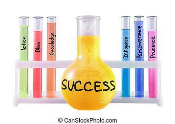 Formula of success. - Abstract chemical formula of success...