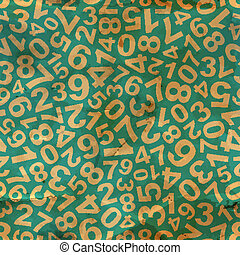 Numbers. Seamless pattern.