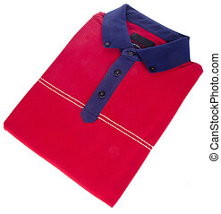 shirt. mens folded polo shirt on a background - shirt....