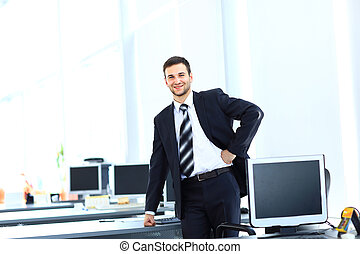 Casual businessman in office