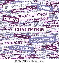 CONCEPTION. Word cloud concept illustration. Wordcloud...