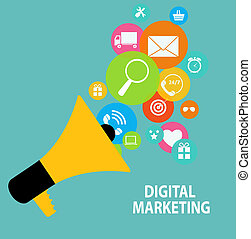 Digital Marketing Concept for Different Electronic Devices...