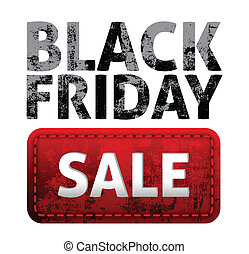 Black Friday sales tag vector, use for easy editing...