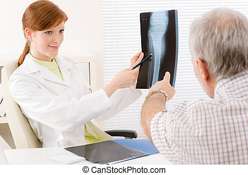 Doctor office - female physician patient x-ray - Doctor...