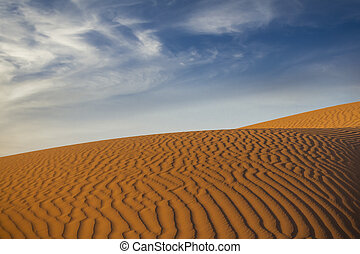Sahara desert  - Beautiful dunes in Sahara desert, Morocco