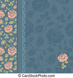 Vintage design - Vintage background with beautiful pattern...