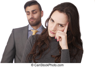 Couple stressed relations - Couple relationship stress,...