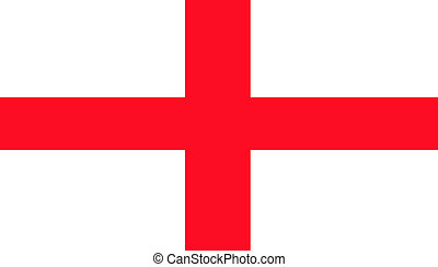 Cross of Saint George flag - Illustration of English Cross...