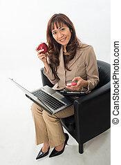 Beautiful asian filipino business woman