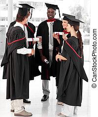 grupo, gente, Celebrar, su, graduación