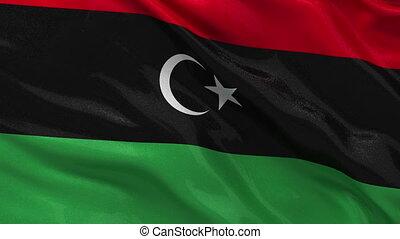 Flag of Libya - seamless loop