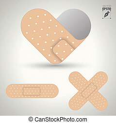 illustration of medical bandage - illustration of medical...