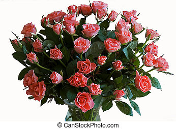 flowers bouquet - bouqet of red roses as a present for love