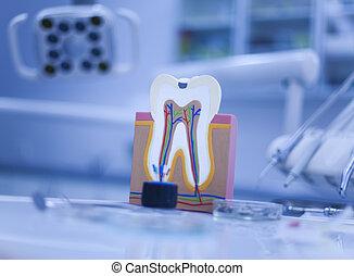 dental, herramientas, Conjunto