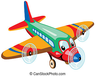 cartoon airplane isolated on white