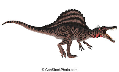 Dinosaur Spinosaurus - 3D digital render of an aggressive...