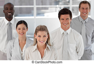 Business Group of Five people looking at camera