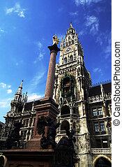 marienplatz munich - germany munich marienplatz view of...