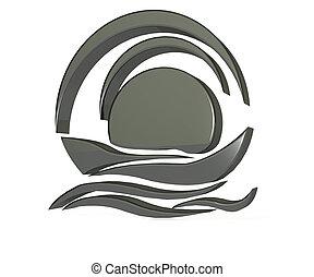 Black boat logo