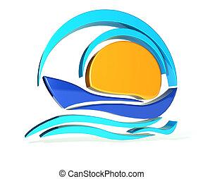 Boat logo - Boat icon logo design