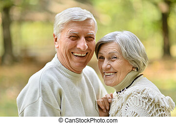 Nice senior couple - Portrait of a nice senior couple in...