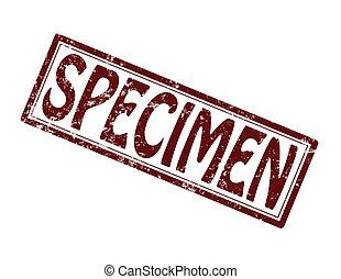 Specimen - Stamp with word specimen inside, vector...