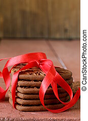 chocolate cookies shape of heart - chocolate cookies in the...