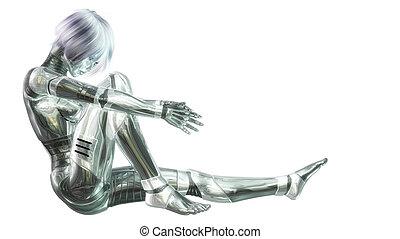 Female Cyborg - Digital Illustration of a female Cyborg
