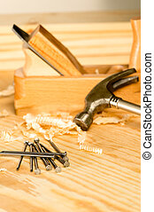 A variety of carpenter tools - Selection of carpenter tools