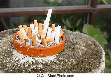 Cigarette butts