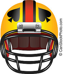 Football helmet with ace of spades