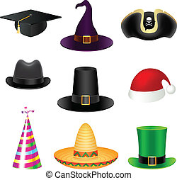 Party hat set - Set of party hats.
