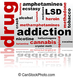 Drug word cloud - Concept illustration showing a word cloud...
