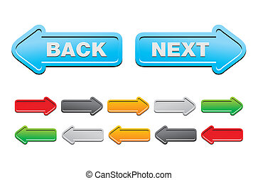 next and back buttons - suitable for user interface