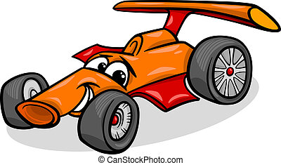 racing car bolide cartoon illustration - Cartoon...