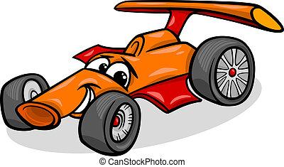 racing car bolide cartoon illustration - Cartoon...