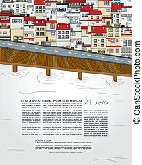 Old city template for web design