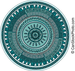 Round ornament mandala pattern