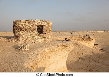 Fort in the desert of Qatar, Middle East