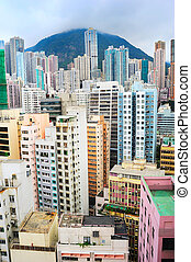 Overpopulated Hong Kong - Hong Kong is one of most densely...