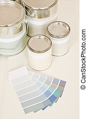 Home decorating paint can color swatches - Home decorating...