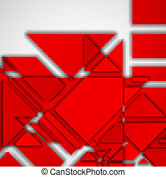 Geometric shape illustration, abstract background